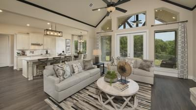 Family Room - Driftwood Model in Georgetown Design Center Tilson Custom Home Photo