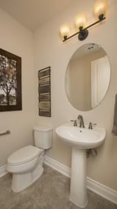 Powder Room - Driftwood Model in Georgetown Design Center Tilson Custom Home Photo