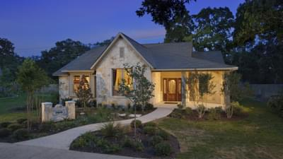 Elevation C - Frio Model in Boerne Design Center Tilson Custom Home Photo