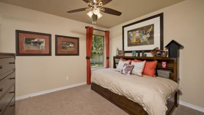 Bedroom 2 - The Guadalupe Model in San Marcos Design Center Tilson Custom Home Photo