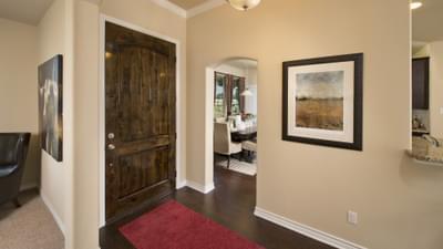 Foyer - The Guadalupe Model in San Marcos Design Center Tilson Custom Home Photo