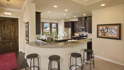 Kitchen - The Guadalupe Model in San Marcos Design Center Tilson Custom Home Photo