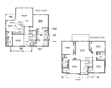 Floorplan - The Hansford Tilson Custom Home Photo