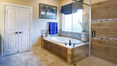 Master Bathroom - Hidalgo Model in San Marcos Tilson Custom Home Photo