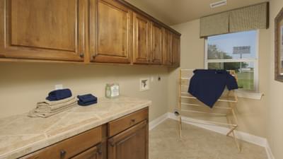 Utility Room - Hidalgo Model in San Marcos Tilson Custom Home Photo