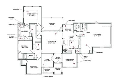 Single Story Floorplan - The Hillsboro Tilson Custom Home Photo