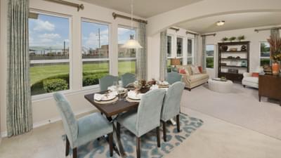 Dining Area - The Magnolia Model in Katy Design Center Tilson Custom Home Photo