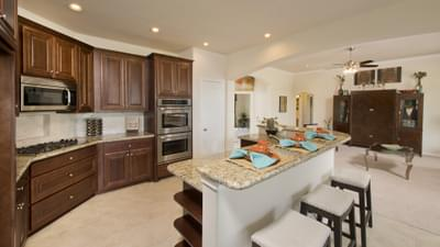 Kitchen - The Magnolia Model in Katy Design Center Tilson Custom Home Photo