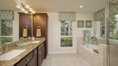 Master Bathroom - The Magnolia Model in Katy Design Center Tilson Custom Home Photo