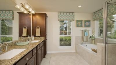 Master Bathroom - The Magnolia Model in Katy Design Center Tilson Custom Home Photo