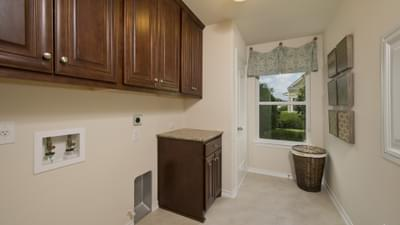 Utility Room - The Magnolia Model in Katy Design Center Tilson Custom Home Photo