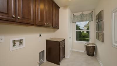 Utility Room - The Magnolia Model in Katy Design Center Tilson Custom Home Photo