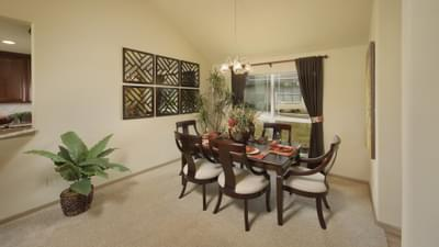 Dining Room- Marian Model in Bryan Design Center Tilson Custom Home Photo