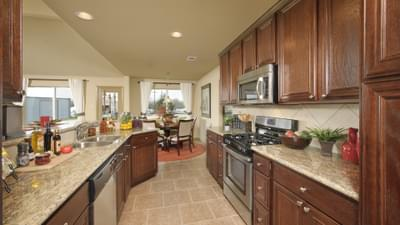 Kitchen - Marian Model in Bryan Design Center Tilson Custom Home Photo