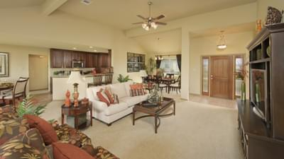 Family Room - Marian Model in Bryan Design Center Tilson Custom Home Photo