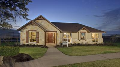 Elevation C - Marian Model in Bryan Design Center Tilson Custom Home Photo