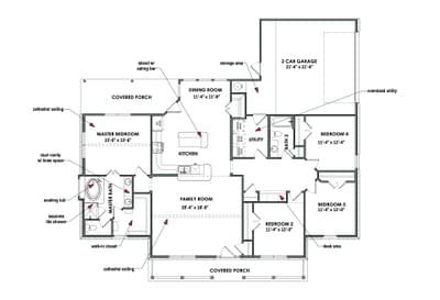 Floorplan - The Montgomery Tilson Custom Home Photo