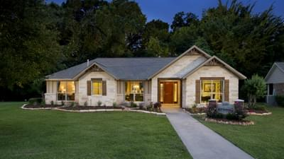 Elevation D - Nottingham Model in Angleton Design Center Tilson Custom Home Photo