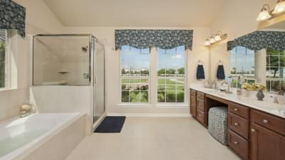 Master Bathroom - Nueces Model at Spring Design Center Tilson Custom Home Photo