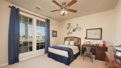 Bedroom 3 - Nueces Model at Spring Design Center Tilson Custom Home Photo