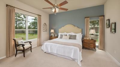 Master Bedroom - Nueces Model at Spring Design Center Tilson Custom Home Photo