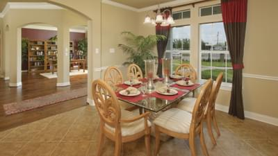 Dining Room - The Palacios Model in the Angleton Design Center Tilson Custom Home Photo