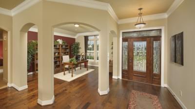 Flex Room and Foyer - The Palacios Model in the Angleton Design Center Tilson Custom Home Photo