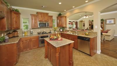 Kitchen - The Palacios Model in the Angleton Design Center Tilson Custom Home Photo