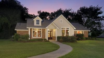 Elevation C - The Palacios Model in the Angleton Design Center Tilson Custom Home Photo