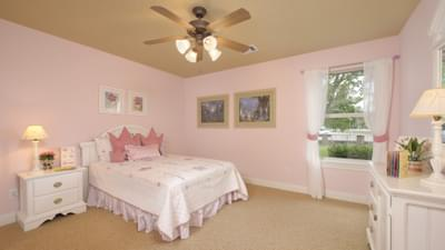 Bedroom 3 - The Palacios Model in the Angleton Design Center Tilson Custom Home Photo