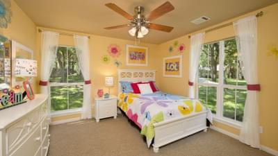Bedroom 3 - The Parker Model in Weatherford Design Center Tilson Custom Home Photo