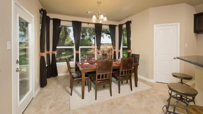 Dining Room - The Parker Model in Weatherford Design Center Tilson Custom Home Photo