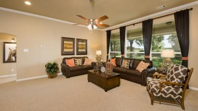 Family Room - The Parker Model in Weatherford Design Center Tilson Custom Home Photo