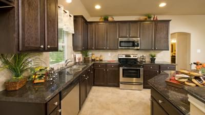 Kitchen - The Parker Model in Weatherford Design Center Tilson Custom Home Photo