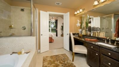 Master Bathroom - The Parker Model in Weatherford Design Center Tilson Custom Home Photo