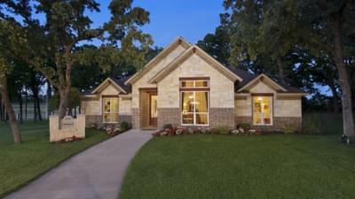 Elevation D - The Parker Model in Weatherford Design Center Tilson Custom Home Photo
