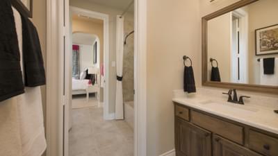 Bathroom 2 - The Rockwall Model in McKinney Design Center Tilson Custom Home Photo