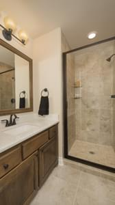 Optional Bathroom 3 (Upstairs) - The Rockwall Model in McKinney Design Center Tilson Custom Home Photo