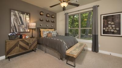 Bedroom 3 - The Rockwall Model in McKinney Design Center Tilson Custom Home Photo