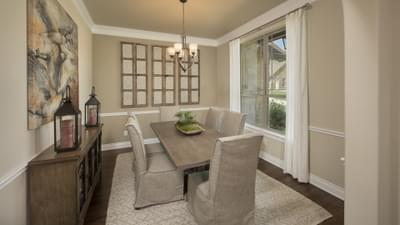 Dining Room - The Rockwall Model in McKinney Design Center Tilson Custom Home Photo