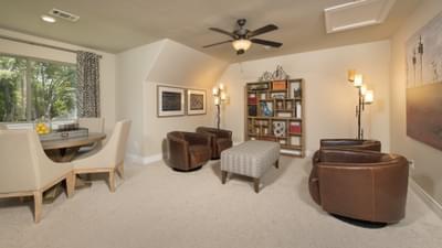 Optional Upstairs Bonus Room - The Rockwall Model in McKinney Design Center Tilson Custom Home Photo