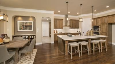 Kitchen and Breakfast Room - The Rockwall Model in McKinney Design Center Tilson Custom Home Photo