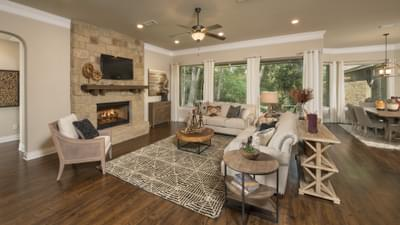 Family Room - The Rockwall Model in McKinney Design Center Tilson Custom Home Photo