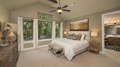 Master Bedroom - The Rockwall Model in McKinney Design Center Tilson Custom Home Photo