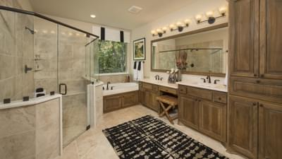 Master Bathroom - The Rockwall Model in McKinney Design Center Tilson Custom Home Photo