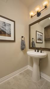 Powder Room - The Rockwall Model in McKinney Design Center Tilson Custom Home Photo