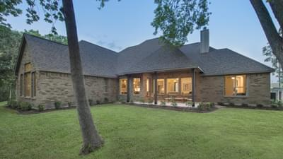 Rear Porch - The Rockwall Model in McKinney Design Center Tilson Custom Home Photo