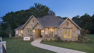 Elevation B - The Rockwall Model in McKinney Design Center Tilson Custom Home Photo