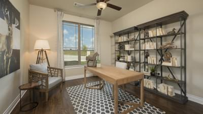 Study/Optional 4th Bedroom - The Rockwall Model in McKinney Design Center Tilson Custom Home Photo