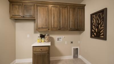 Utility Room - The Rockwall Model in McKinney Design Center Tilson Custom Home Photo